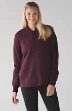 NWT LULULEMON PLEAT TO STREET BOMBER ZIP UP SWEATER SIZE 8 SOLD OUT $118