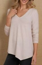 Soft Surroundings Elegant Jersey Top Ivory Heather Plus SZ 1X $90 NEW!