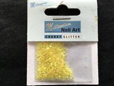 MILLENIUM NAIL ART CHUNKY YELLOW GLITTER