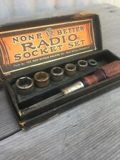 None Better Radio Socket Set New Britain Tools In Original Box Vintage
