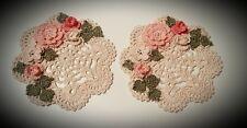 Handmade Crochet Victorian Chic Roses Doilies!  by leochic033