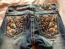 Girls miss me jeans size 12 bootcut Bling Jeans