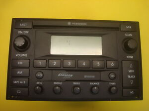 02 03 04 05 Volkswagen Passat Stereo Radio CD Cassette Player 3B7035180G