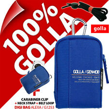 New Golla Universal Compact Digital Camera Case Bag Blue for Canon Sony Samsung