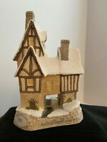 DAVID WINTER COTTAGES: FRED'S HOME 1991 CHRISTMAS SPECIAL RETIRED WITH BOX & COA