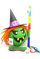 Hexe Pinata Geburtstag | Halloween | Geschenk Party Set: Pinata + Maske + Stab;