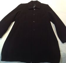 Black Wool Long Coat .... Size S/ 10