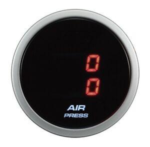 52mm Suspension Air Pressure Dual LED Display Electrical Gauge Red Digital PSI