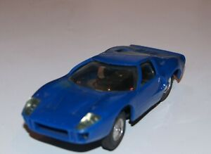 1/30 CIRCUIT 24 FORD GT 40 BLEUE TRES BON ETAT PAS SCALEXTRIC SLOT CAR