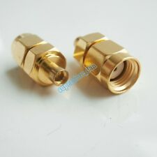 RP-SMA male jack to MMCX female plug RF coaxial adapter connector Gold Plated