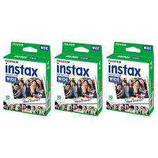 3 Packs 30 Instant Photos Fuji FujiFilm Instax Wide Film Polaroid Camera 210 300