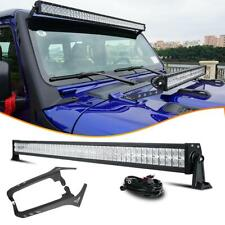 52INCH LED Light Bar Combo with Roof Bracket Set For Jeep Wrangler JL 2018 2019