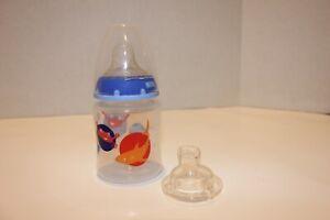 Nuk transition learning sippy cup bottle blue sharks 5 oz regular bottle nipple