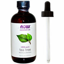 Tea Tree Oil (100% Pure), 4 oz Plus Glass Dropper - NOW Foods Essential Oils
