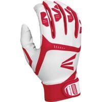 Easton Adult Gametime Batting Gloves WHITE   RED MD