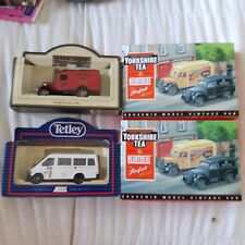 4x Collectable LLEDO diecast vehicles - HEARTBEAT / DAYS GONE BY / TETLEY TEA