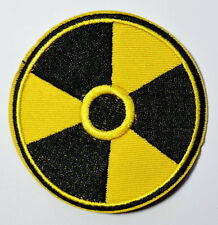 CAUTION RADIATION DAMGER Embroidered Iron On Patches Shirts Hats Jeans shoes