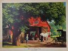 "Paul Detlefsen Horse Buggy Days Vtg Mid Century Arthur Kaplan Print 18""x13"""