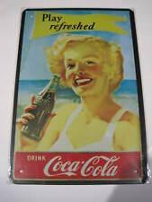 REF 306 Cartel Placa Metal 20X30CM 150gr - Coca Cola Coke cochesaescala