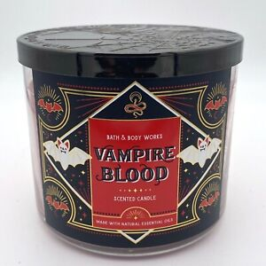 BATH & BODY WORKS VAMPIRE BLOOD 3 WICK CANDLE NEW FREE SHIPPING fall