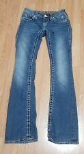 Rock Revival Noelle Boot Medium wash Distressed  Stretch Denim Jeans size 25