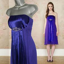 MONSOON violet soie diana à taille à ornements bustier robe de mariée uk 12 £ 139