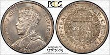 1933 New Zealand Half Crown 1/2 Cr PCGS MS 64