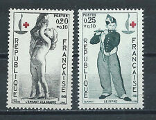 REUNION , RED CROSS , 1963 , 100 YEAR ANNIV. , SET OF 2 O.P. ,  PERF , MNH