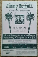 New listing Jimmy Buffett Concert Poster - Parrothead - Coral Reefer - 1996 Southampton, Ny