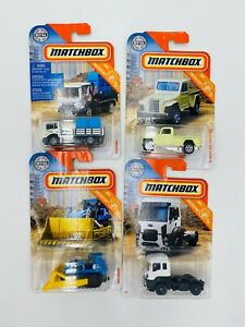 Matchbox MBX Construction Set of 4 - Jeep Pickup - Ford Cargo - MBX Digger New
