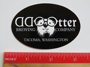 Beer Brewery STICKER ~ ODD OTTER Brewing Co ~ Takoma, WASHINGTON Breweriana