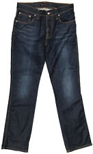 EUC RRP $239 Mens Stunning Nudie 'SLIM JIM GLACIER INDIGO' Coated Jeans W32 L32