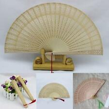 Aromatic Wood Pocket Folding Hand Held Fans Elegent Home Decor Party Favors T52
