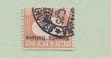 ITALIA COLONIE SOMALIA 1923 Segnatasse USATA VARIETA' SS. 34a con CERIFICATO
