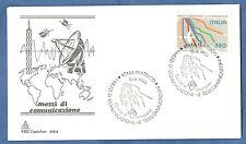 ITALIA BUSTA CAPITOLIUM 1986 mezzi comunicazione satellite RADAR SPAZIO  FDC FDC