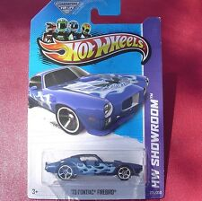 BLUE w/FLAMES '73 Pontiac Firebird. HW Showroom 235/250.  New in Blister Pack!