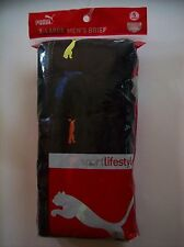 "PUMA Underwear Brief Mens Size Extra Large 40-42"" Waist Blk Asst Color Logo NIP"