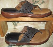BORN HAND CRAFTED Dark Blue Leather Shoes Women's size 7/8M THONGS