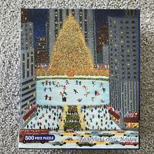 "Briarpatch Rockefeller Center Holiday 500 Pieces Puzzle 14"" x 18"" - GENTLY USED"