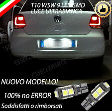COPPIA LUCI TARGA 9 LED VW POLO 6R T10 W5W CANBUS 100% NO ERROR
