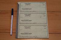 MIKE HYNSON Surfboards - sheet of 3 blank Checks - ENDLESS SUMMER Wells Fargo