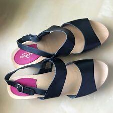 black Hasbeens wooden sandals, sz 40, Us ~9
