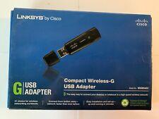 Linksys Compact Wireless G USB Adapter WUSB54GC Open Box