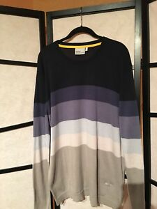 WeSC Men's Cotton Multi-Color Long Sleeves Crew Neck Sweater Size: XXL  Sweden