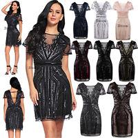 Black Dress Short Prom Vintage Gatsby 1920s Flapper Dress Wedding Gown Halloween