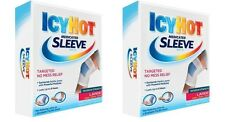2 Pack Icy Hot Maximum Strength Medicated Sleeve Ankles Elbows Knees Large 3 ea