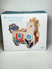 Manhattan Toy Musical Lili Llama Wooden Activity Toy New