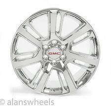 "4 NEW GMC Sierra Yukon Denali Chrome 22"" Wheels Rims Lugs Free Shipping 4738"