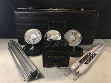 Novatron V600-D 3-Light Studio Photography Light/Flash Head Kit with Accessories