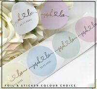 Custom Names Personalised stickers label foil candle,wedding,handmade cake 24/35